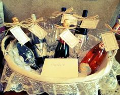 A wine gift basket