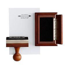 Wood Stamp + Ink Pad