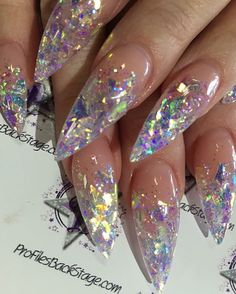 30 Stunning Nails design ideas to bring a touch of magic to your manicure! As we told you many times, leaving your home without having a manicure pile in the current trends is possible. The art of sublimating your nails certa. Stiletto Nail Art, Matte Nails, My Nails, Coffin Nails, Stiletto Nail Designs, Gliter Nails, Summer Stiletto Nails, Long Nails, Stiletto Nails