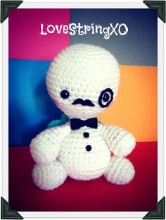 Monocle Turtle Amigurumi Crochet doll / Handmade Gift for Valentine / Couples Gift. $45.00, via Etsy.