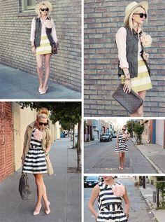 Stripes.....flower.....love the dress!