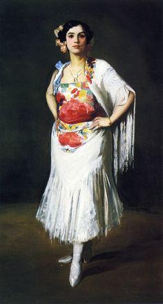 POUL WEBB ART BLOG - La Reina Mora by Robert Henri 1906