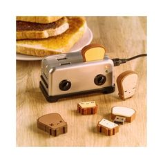 USB Toast Flash Drives ($22) ❤ liked on Polyvore featuring photos and pictures