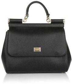 Dolce&Gabbana Sicily Bag Medium Dauphine Calfskin Black Handtaschen
