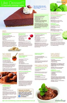 SHAKEOLOGY-DESSERT-RECIPES Shakeology Seriously the BEST meal replacement shake I have ever had.