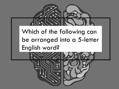 Which answer creates an English word?