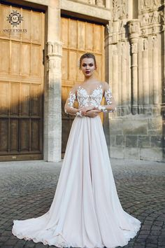 Wedding dress FILISI Long sleeve wedding dress simple