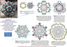 44. PATTERN for beaded bead but makes a great Snowflake pattern omit last step for definition of snowflake