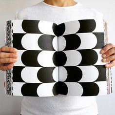 Spread from Geometric pattern art book. #kapitza #geometricart #bookdesign #blackandwhite #patterndesign