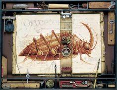 Wie genial! Insekten, Wirbel- und Säugetiere mal von einer ganz anderen Seite. Der russische Künstler Vladimir Gvozdev hat diese beeindruckenden Steampunk-Werke erschaffen. Dabei zeigt er uns verschiedenen Tiere, die mit Zahnrädern und anderen mechanischen