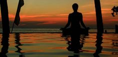 Sunrise Yoga on the Vietnam Fitness Retreat.