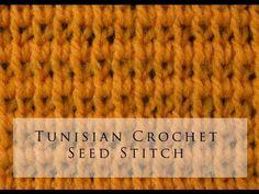 Tunisian Crochet Seed Stitch