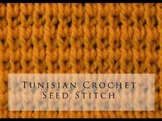 Tunisian Crochet Seed Stitch  <3