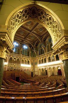 Hungary - Budapest - Hungarian Parliament - Debating Chamber