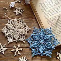 Ravelry: Inscribed Snowflake pattern by Julia Hart Crochet Snowflake Pattern, Crochet Stars, Christmas Crochet Patterns, Crochet Snowflakes, Christmas Snowflakes, Thread Crochet, Crochet Doilies, Crochet Flowers, Knit Crochet