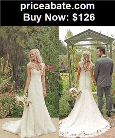 Wedding-Dresses: New White/Ivory Lace Wedding Dress Bridal Gown Custom Size 6 8 10 12 14 16 +++++ - BUY IT NOW ONLY $126