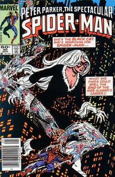 PETER PARKER THE SPECTACULAR SPIDER-MAN 90 1ST APPEARANCE OF BLACK SUIT IN PETER PARKER, LATER TO BECOME VENOM. MARVEL COMICS