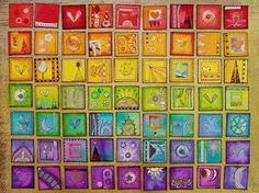 Rainbow Inchies – Great collaborative art project!