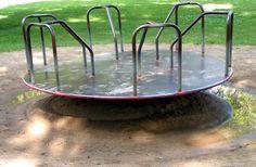 metal merry-go-round