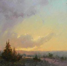 november sunset ~ oil ~ by becky joy