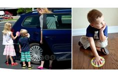 Penalty pal decals/Parking Pal magnets: Neat idea, but I do not think that it would work with my 5 year old son.