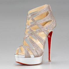 Christian Louboutin Shoes Latticework Platform Glittered-I probably wouldn't be able to walk in them, but they would look amazing in my closest till I learn how to..