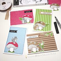 So jetzt hab ich viele Mäuse  und Pilze  mit Designerpapier verarbeitet und eine schöne bunte Mischung ist dabei herausgekommen. #werbung…