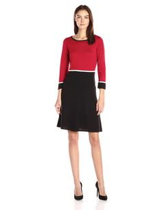 Nine West Women's Color Block Fit and Flare