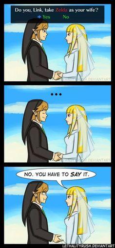 Poor guy... Link and Zelda wedding
