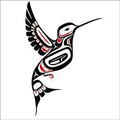 Northwest Coast Style Hummingbird Decal by WilsonGraphics on Etsy, $10.00