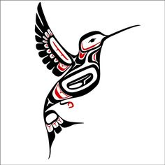 Northwest Coast Style Hummingbird Decal by WilsonGraphics on Etsy, $10.00