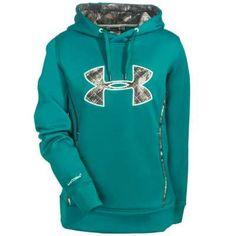 Under Armour Sweatshirts: 1247106 313 Caliber Storm UA Women's Emerald Sari Hoodie