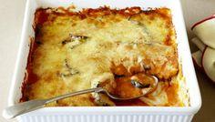 This eggplant parmigiana is served with a rich Napoli sauce. Greek Recipes, Italian Recipes, Vegetarian Cooking, Vegetarian Recipes, Vegetable Recipes, Gourmet Recipes, Cooking Recipes, Dinner Recipes, Mushroom Dish