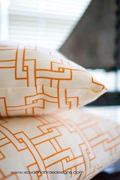 Citysquare by Kravet, Tangerine Linen  Home Decor Designer Fabric Throw Pillow Cover for Decorative Throw Pillows 12x12