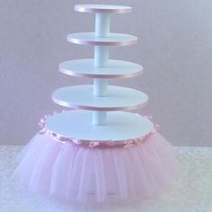 Tutu Cupcake Stand - this would be so easy to do on your own!