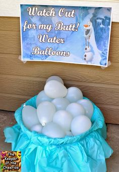 Frozen Birthday Party Watch out for my Butt Water Balloons