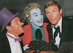 Burgess Meredith, Cesar Romero & Adam West in Batman (1966-68, ABC)