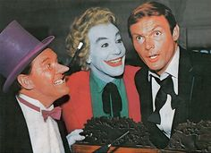 Burgess Meredith, Cesar Romero & Adam West in Batman (1966-68, ABC)
