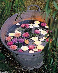 Charming outdoor floral arrangement :)