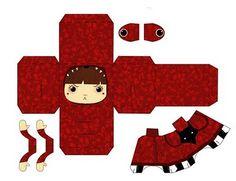 Paper toy; Le petit chaperon rouge !