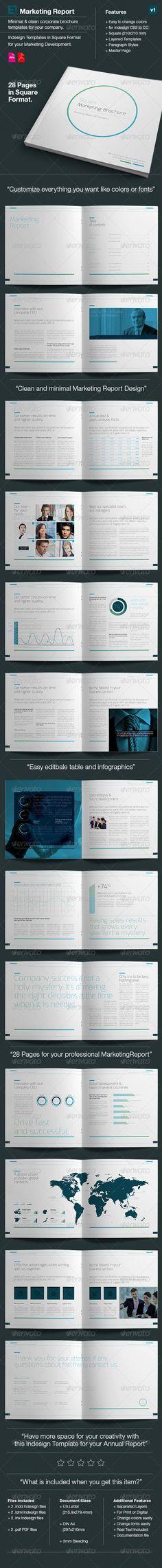 Corporate Business Brochure / Report ~ Brochure Templates on