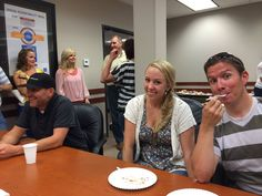 Having fun today at our July VitalSmarts #munchandmingle in the Training Room.