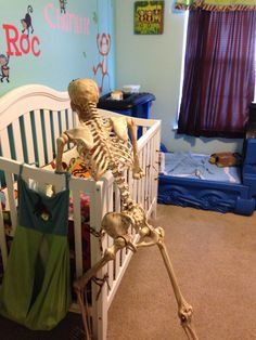 Tucking baby in. Bones, Toddler Bed, Fun, Baby, Home Decor, Child Bed, Decoration Home, Room Decor, Baby Humor