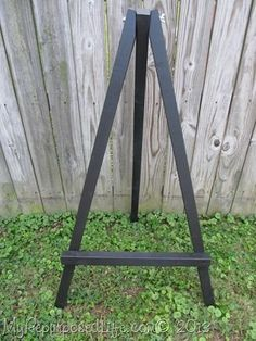 24 x 60 x 44-inch, solid wood floor easel, free-standing with