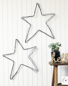 How to make a DIY wire star wall art For the Love of…