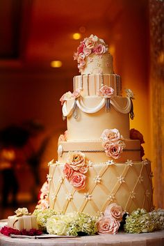 Indian Weddings Inspirations. Ivory Wedding Cake. Repinned by #indianweddingsmag indianweddingsmag.com #classic