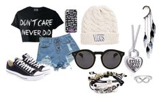 """Polyvore 30 Day Challenge, Day 13: Someone You Wish You Could Forgive"" by hey-its-cake ❤ liked on Polyvore featuring M.S.P., Converse, Vans, Illesteva, Robert Lee Morris, Jewel Exclusive and Anni Jürgenson"