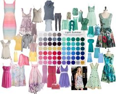 """Light Summer Color Palette 1"" by blueskies22 ❤ liked on Polyvore"