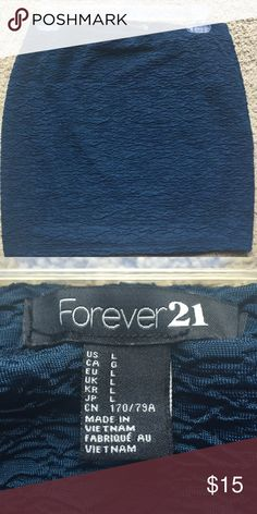 Forever 21 Skirt | Size L Cute color between blue and teal. Worn once and in excellent condition. Forever 21 Skirts Mini