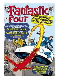 fantastic four comic art | Marvel Comics Retro: Fantastic Four Family Comic Book Cover No.3 ...